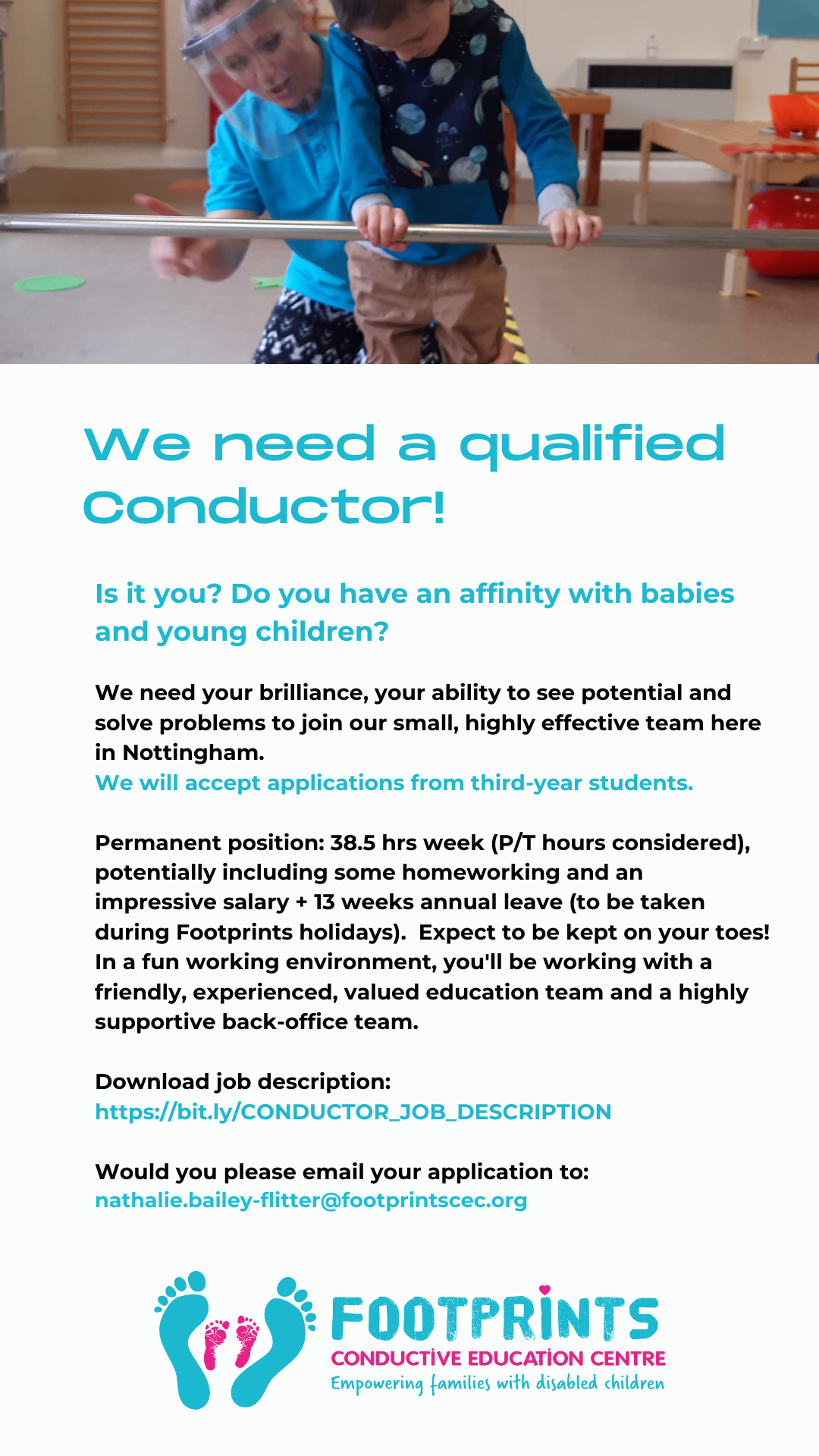 Image of an advert for a Conductor